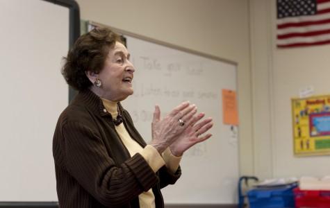 Holocaust Survivor Speaks to English Class