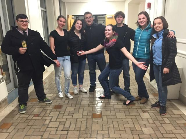 Pictured are the amazingly beautiful and wickedly talented group of S.H.I.P. members who performed Friday. (Left to Right) Andrew Rabita, Dominika Brice, Shaina Lubliner, Ian VanCura, William Hunt, Erin Maher, Alex Brokowski. (In Front) Meghan Rowley.