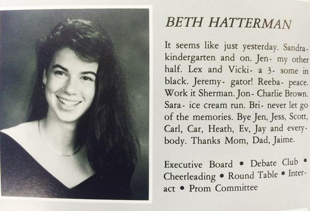 English Department Head Beth Gillins senior picture