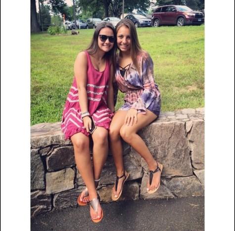 Delfina Umpirez and a friend over summer break.