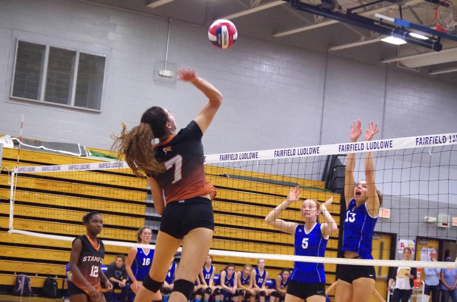 Andrea O'Connor recently became the first SHS volleyball player to reach 1000 kills.
