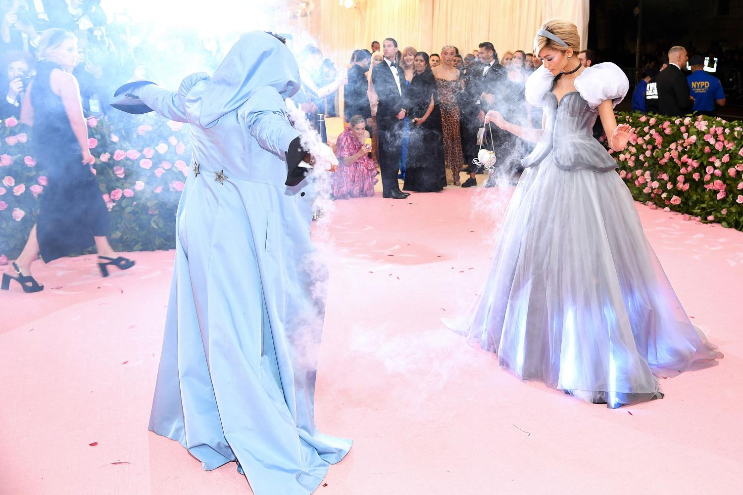 Actress and singer Zendaya puts on a performance in her Cinderella inspired gown with stylist Law Roach.