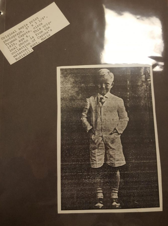 Capote as a young boy