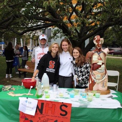 Students participate in the SNHS booth at STEMFest Sunday, October 6.