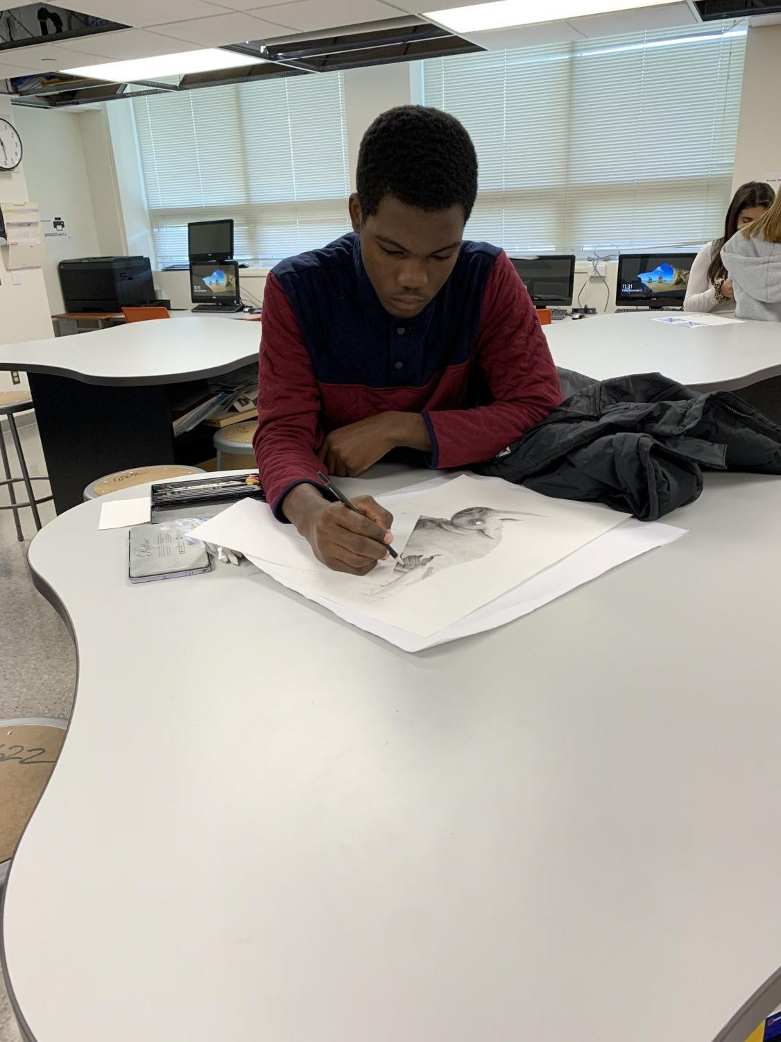 Rafaque Hughes demonstrates artistic ability
