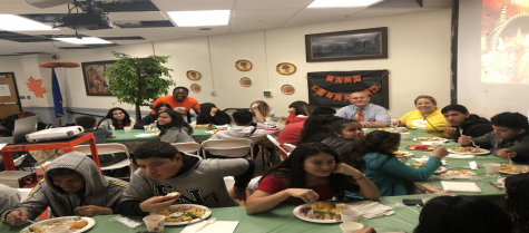 "Newly Arrived Students Celebrate ""First Thanksgiving"" with Faculty"