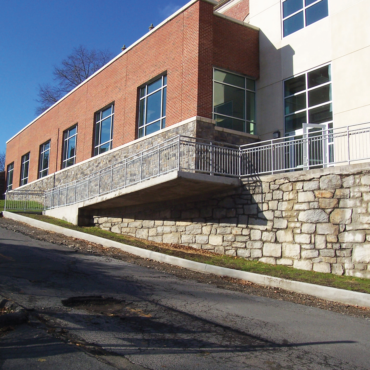 Stamford High School's large number of exterior doors can present a challenge to security.