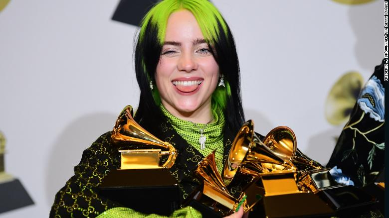 Billie+Eilish+Sweeps+at+the+Grammy+Awards