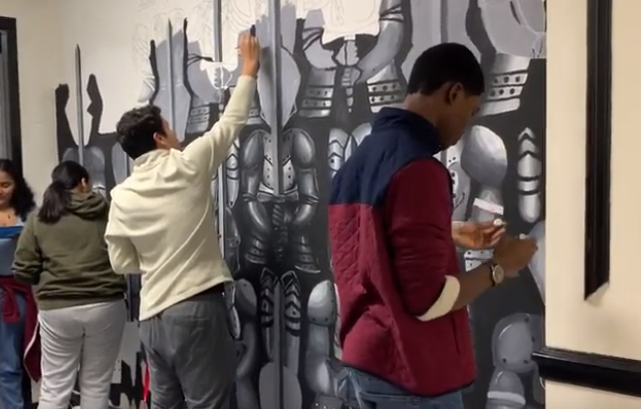 NAHS Students to Complete Entryway Mural