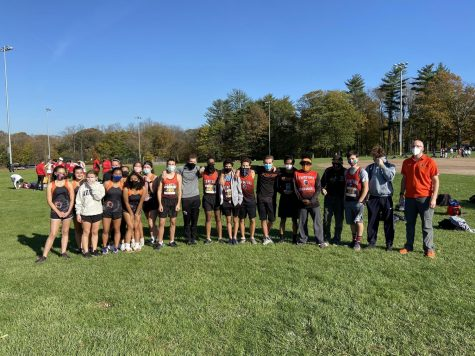 The eight top runners of the girls and boys cross country team competed at the 2020 FCIAC Regional Championships.