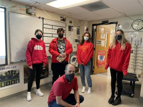 Stamford High students dressed in red for red out day, in support of the Leukemia and Lymphoma Campaign.